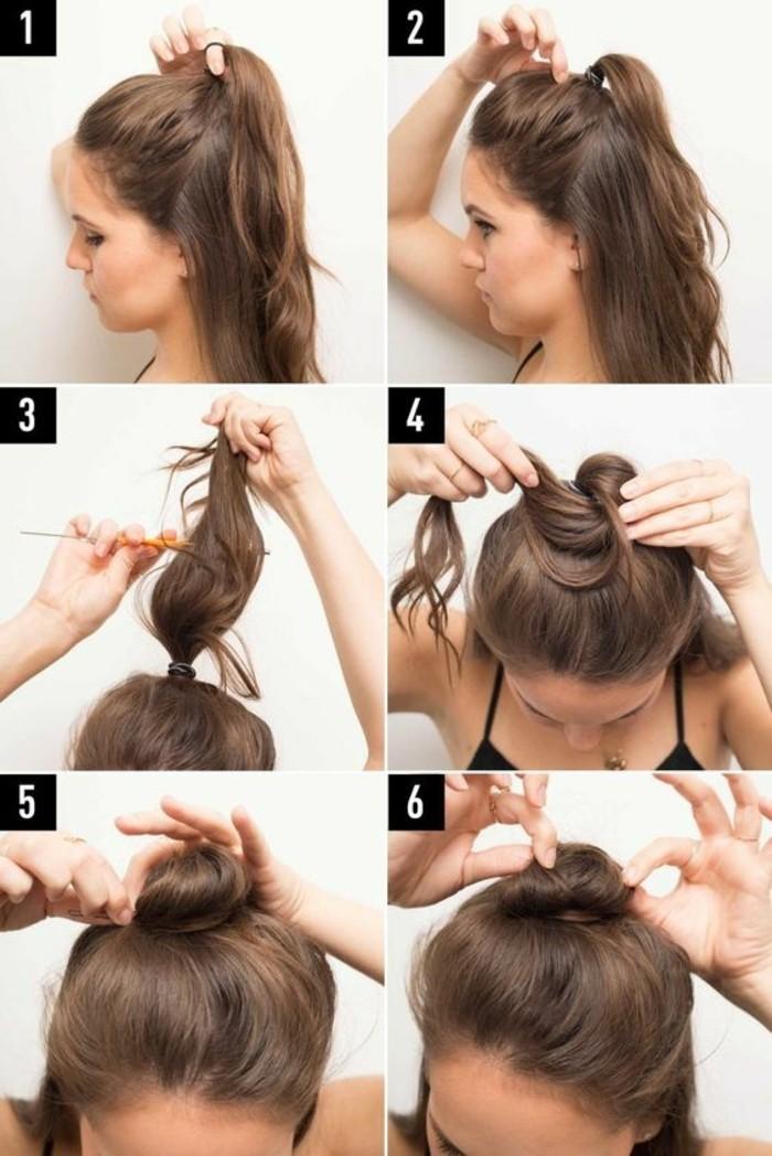 chignon-romantique-coiffures-cheveux-marrons-mi-courts-coiffures
