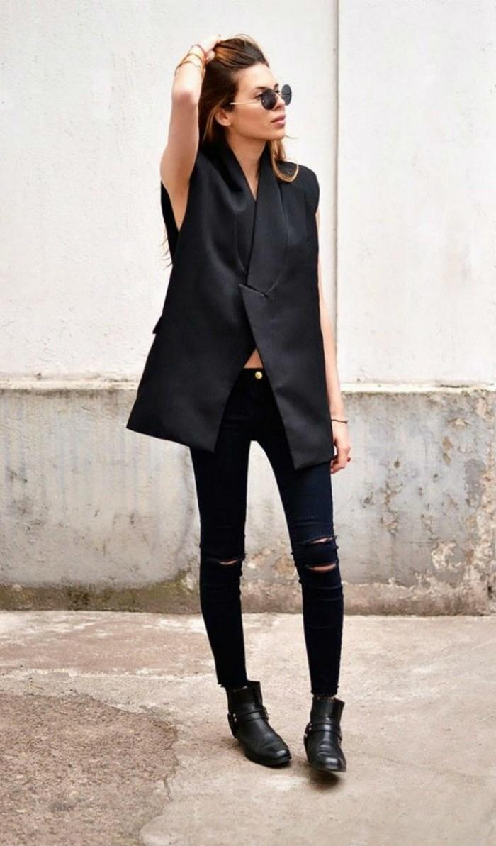 chouette-idée-comment-porter-le-gilet-long-sans-manche-femme-belle-rock