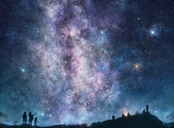 ciel-etoilé-voir-le-ciel-avec-étoile-brillante-image-paysafe-dessin