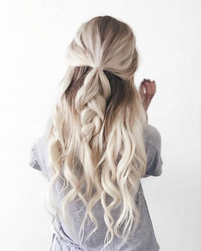 Beliebt Une coiffure simple et rapide - 56 variantes en photos et vidéos! IQ54