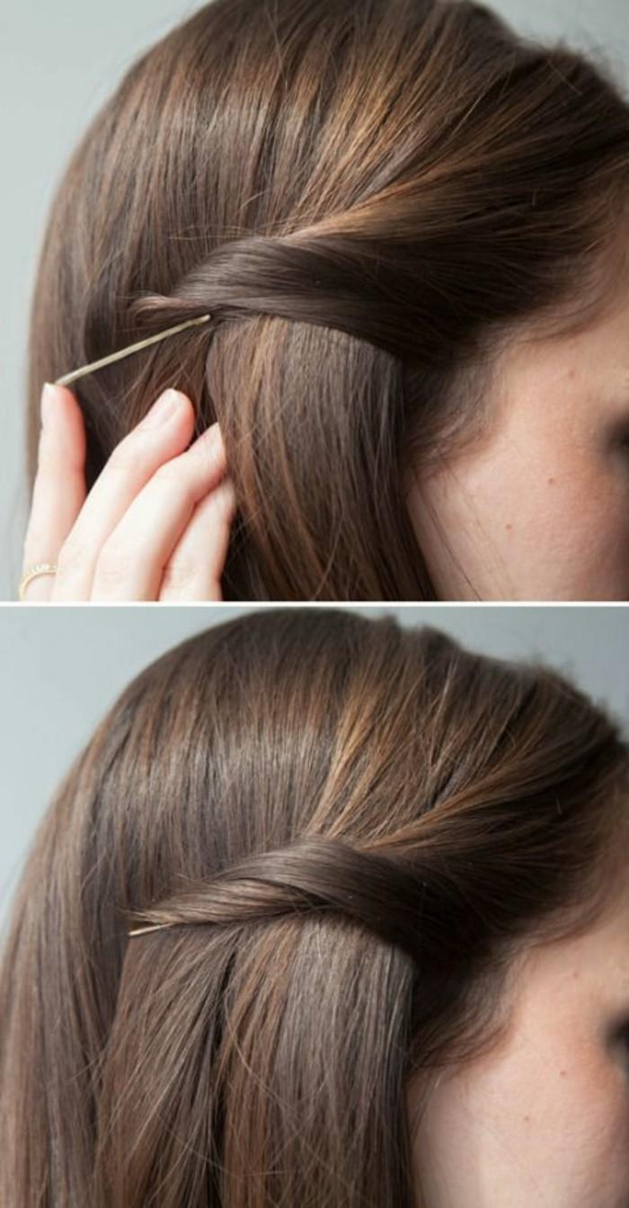 coiffure-simple-et-rapide-coiffure-d-été-cheveux-marrons-tendance-coiffure-2016-femme