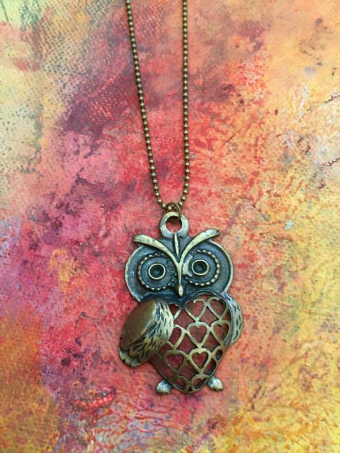 collier-hibou-en-métal-collier-trendy-original