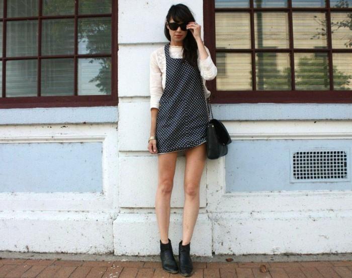 combinaison-femme-chic-jupe-combinaison-cool-en-dots