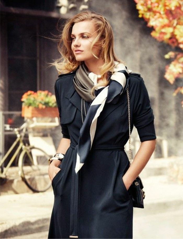 Comment porter une charpe les nouvelles tendances de - Comment porter un petit foulard carre ...
