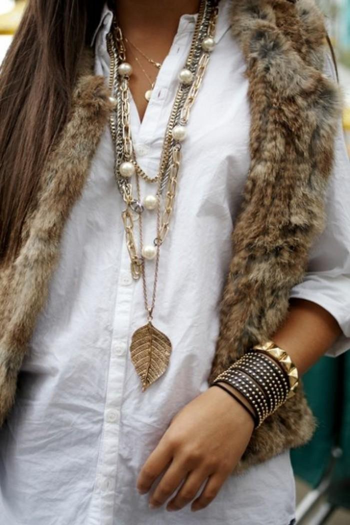 comment-porter-gilet-long-sans-manche-femme-beige-combinaison-avec-chemise-blanche-femme