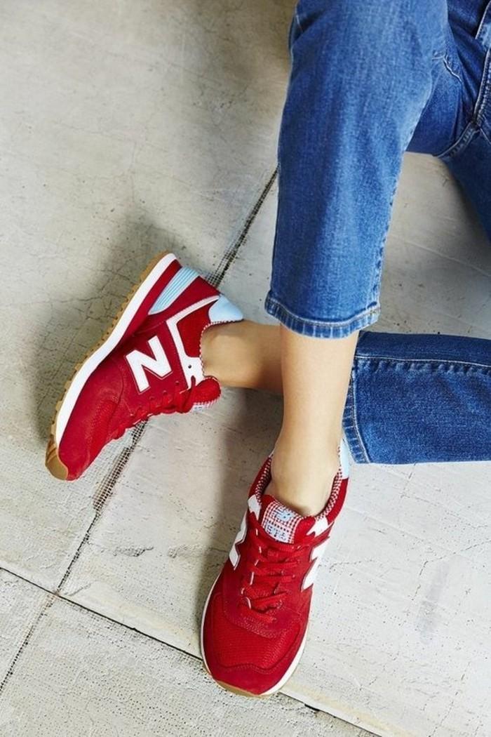 comment-porter-les-sneakers-femme-rouge-tendances-femme-2016