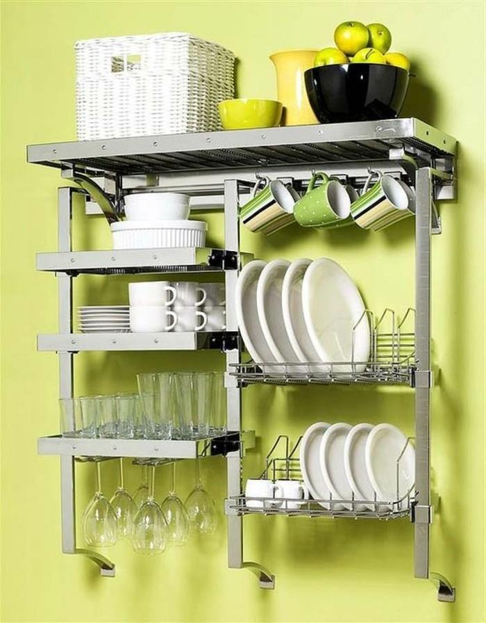 Le rangement mural comment organiser bien la cuisine - Rangement pour ustensiles cuisine ...