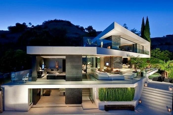 plan de maison futuriste