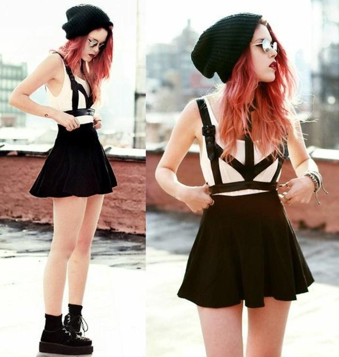 cool-combinaison-femme-pas-cher-idée-tenue-de-jour-noir-alternative