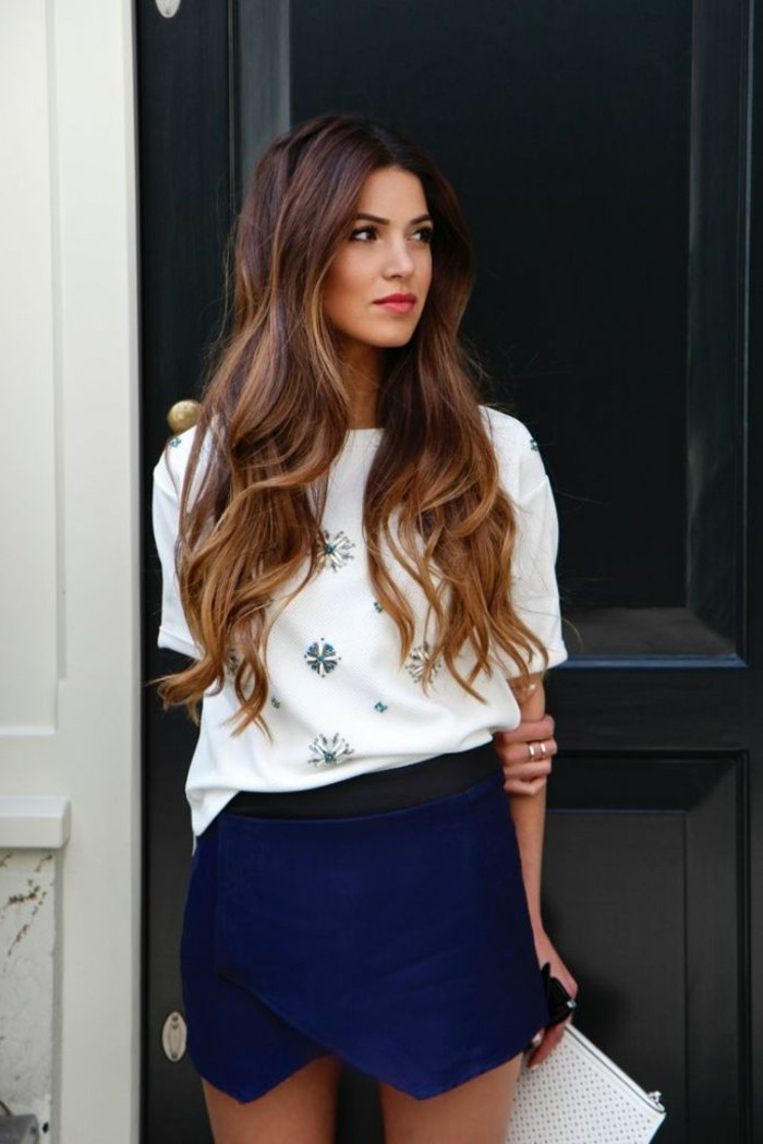 cool-tenue-superbe-balayage-pour-brune-balayage-cheveux-courts