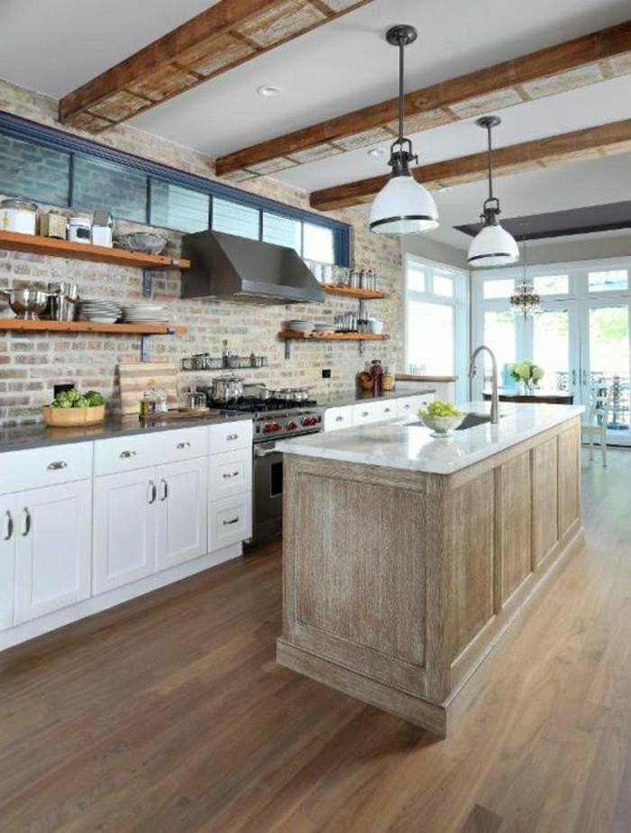 cuisine avec sol parquet maison design