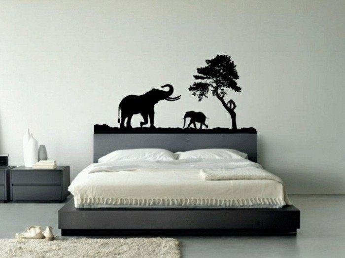 Elephant Bedroom Decorating Ideas Wall Stickers Inspired Decoration Picture - Bedroom Interior Design Ideas