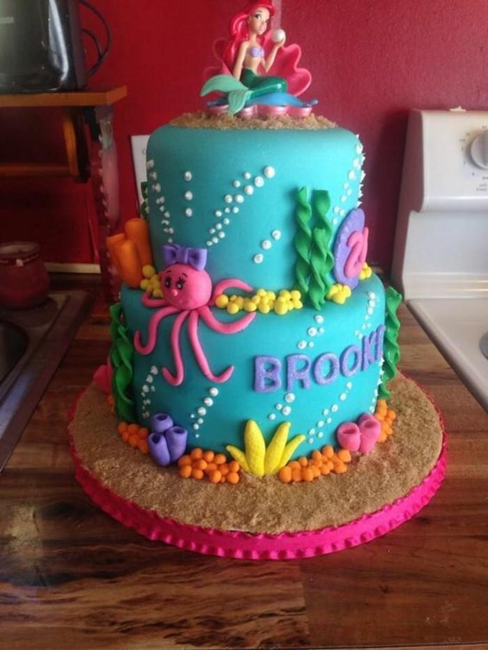 décoration-coloriage-petite-sirene-party-grateau-petite-sirène-ariel-la-petite-sirene-coloriage