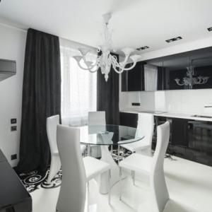 Chambre noire et blanche - signification des couleurs et combinaisons en 80 photos splendides!