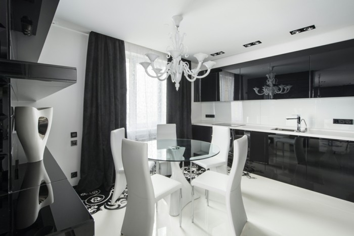deco-chambre-blanche-chambre-noire-et-blanche-décoration-chambre-adulte-