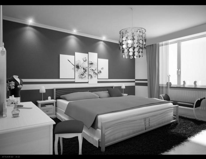 Merveilleux Deco Chambre Moderne Chambre Noire Et Blanche