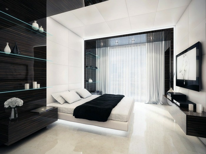 deco chambre a coucher blanche avec des id es int ressantes pour la conception de. Black Bedroom Furniture Sets. Home Design Ideas
