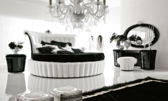 deco-salon-gris-et-blanc-chambre-noire-et-blanche-décoration-chambre-adulte-