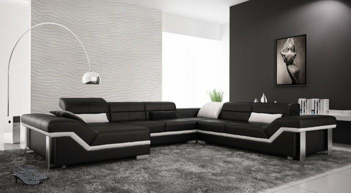 chambre noire et blanche signification des couleurs et combinaisons en 80 photos splendides. Black Bedroom Furniture Sets. Home Design Ideas