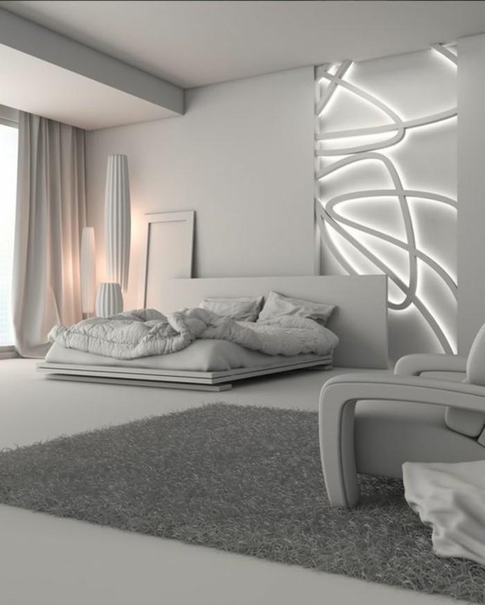decoration-murale-chambre-avec-murs-blancs-gris-tapis-gris-meubles-de-chambre-a-coucher