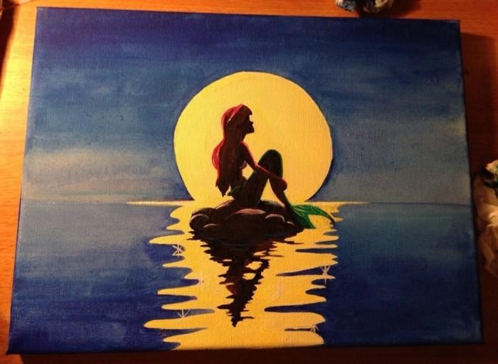 dessin-animé--arielle-la-petite-sirène-peinture-coloriage-sirène-la-petite-sirène-disney