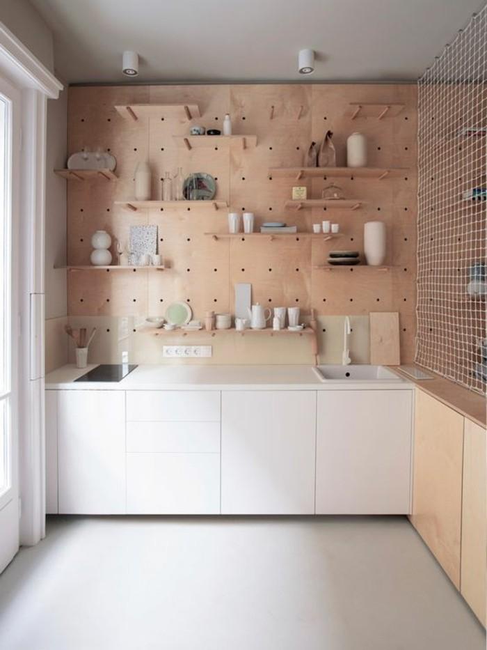 Meuble mural cuisine tagre vitrine en pin massif perrine la redoute interieu - Meuble mural salon ikea ...