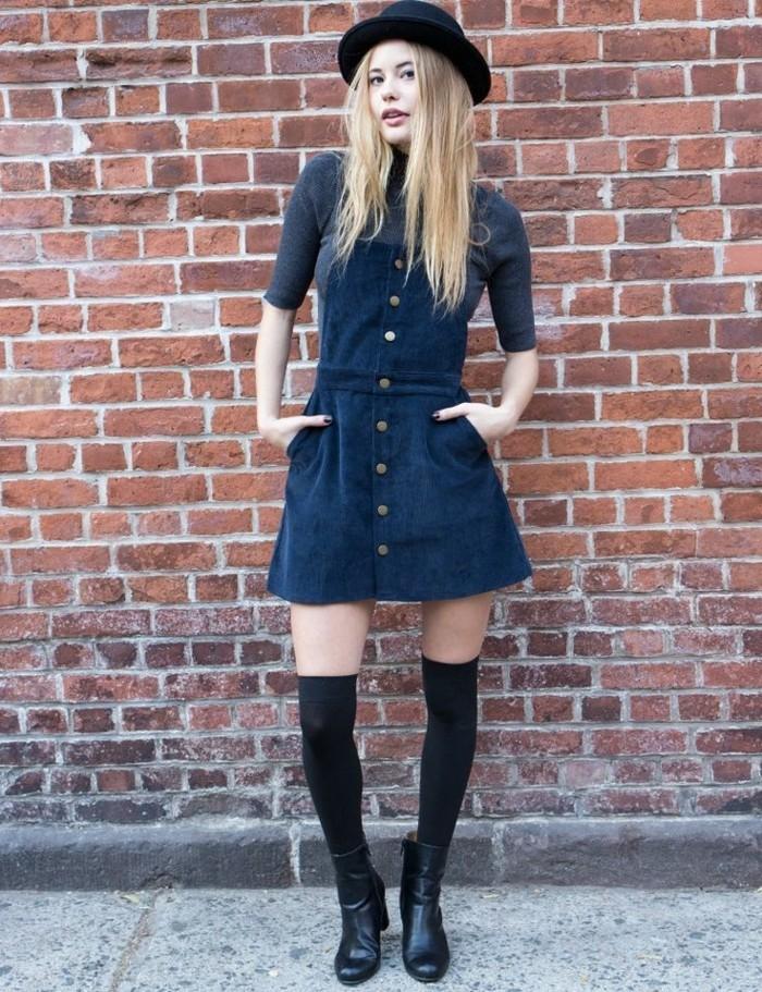 excellente-salopette-jean-jupe-vetement-stylé-pour-l-été-bleue
