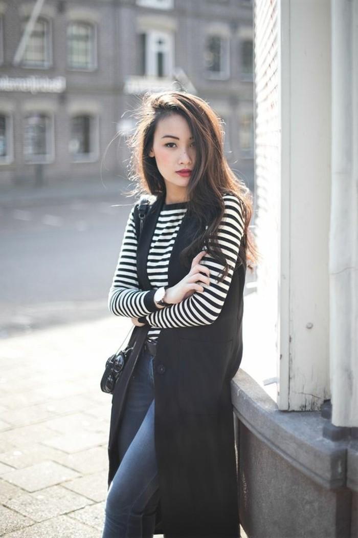 femme-stylée-gilet-long-sans-manche-ootd-chouette