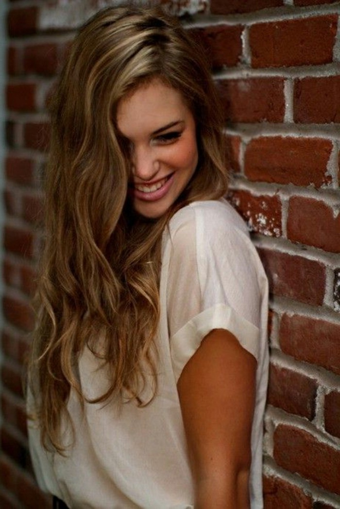 fille,belle,coiffure,balayage,balayage,cheveux,chatain