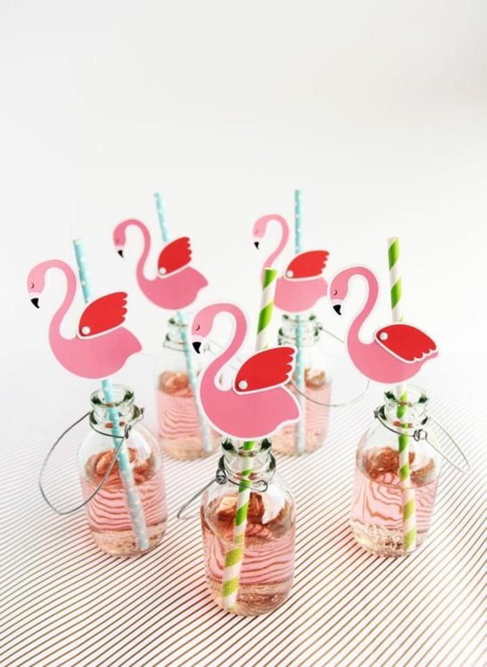 formidable-deco-anniversaire-gateau-anniversaire-enfant-a-flamingos