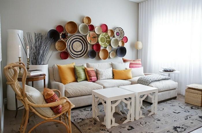 Design d 39 int rieur avec meubles exotiques 80 id e magnifiques - Objets decoration salon ...