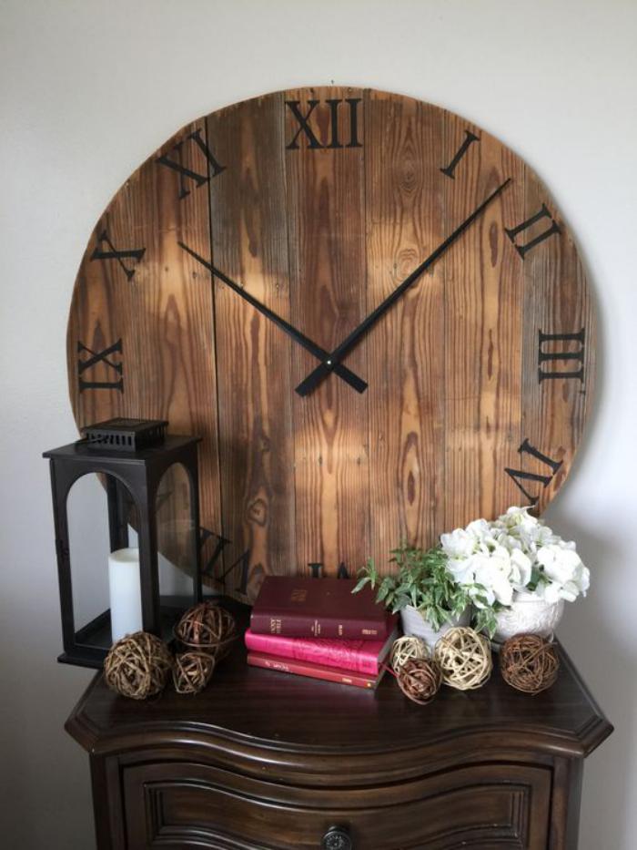grande-horloge-murale-cadrant-en-bois-horloge-décorative