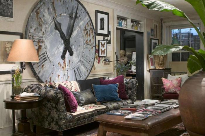 grande-horloge-murale-décoration-salle-de-séjour