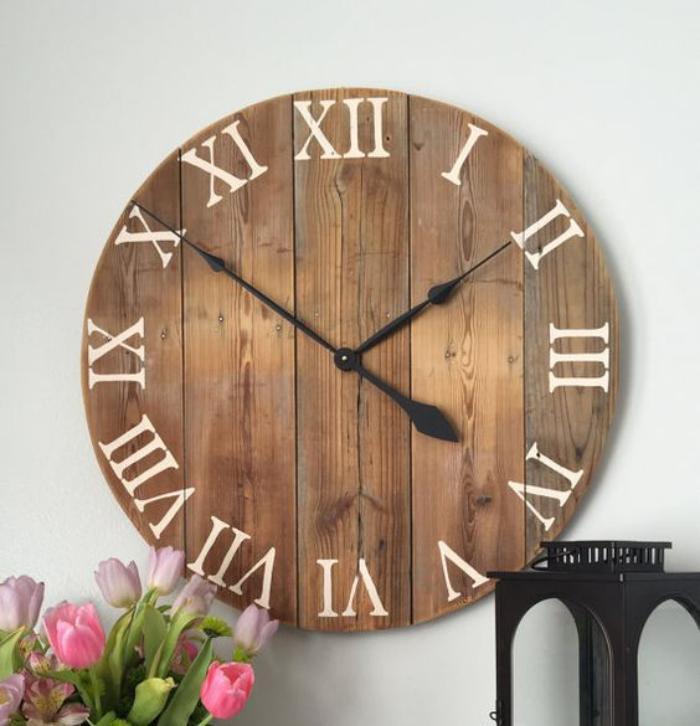 grande-horloge-murale-horloge-en-bois-chiffres-romains