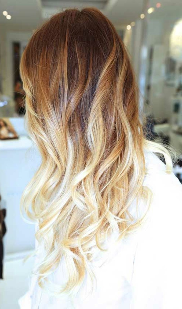 idée,balayage,chatain,clai,balayage,blond,californien,beau