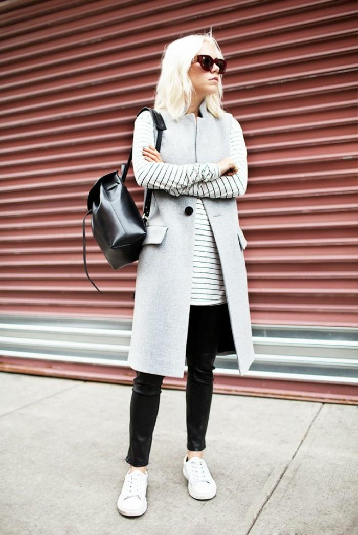 idée-comment-porter-le-gilet-long-sans-manche-femme-blonde