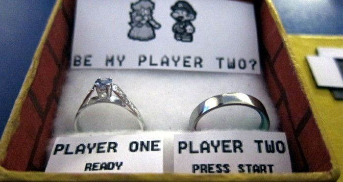 Demande mariage en jeu vidéo