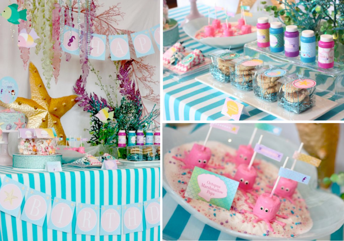 idée-la-petite-sirène-disney-anniversaire-gâteau-idees