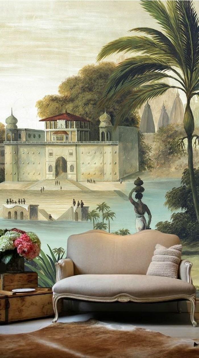 idée-meuble-exotique-maison-style-colonial-canapé
