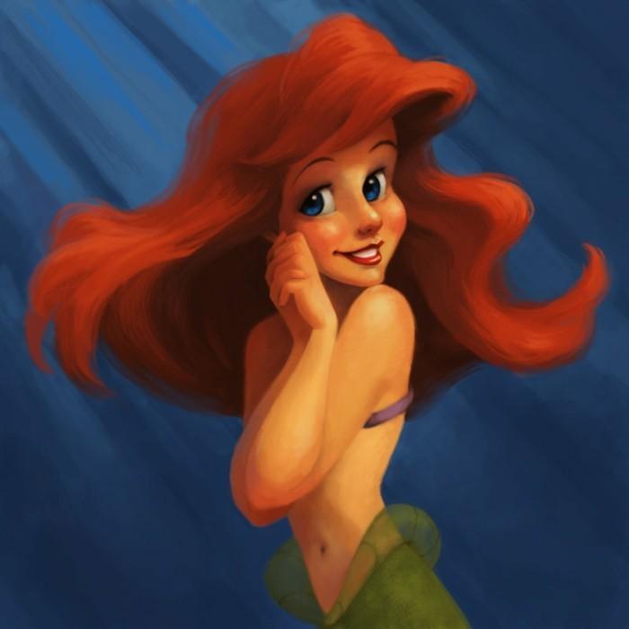 idée-peinture-la-petite-sirène-a-faire-soi-meme-belle