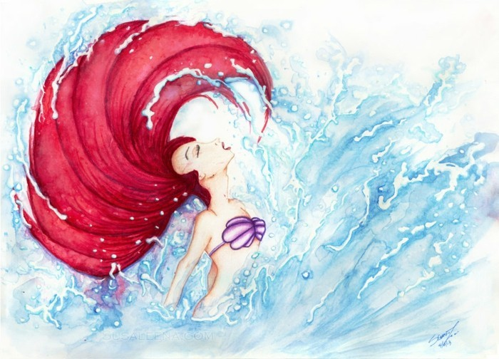idée-peinture-la-petite-sirène-a-faire-soi-meme