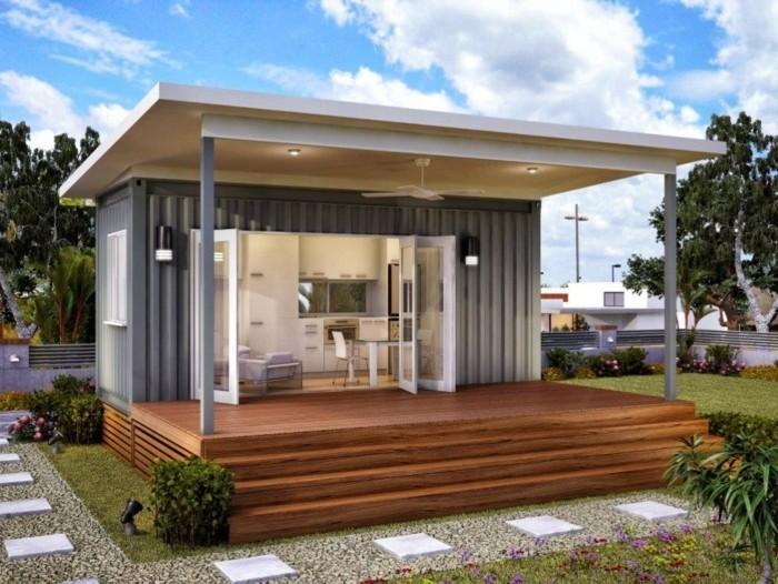 Vous tes int ress s par une maison toit plat 84 for Maison container definition