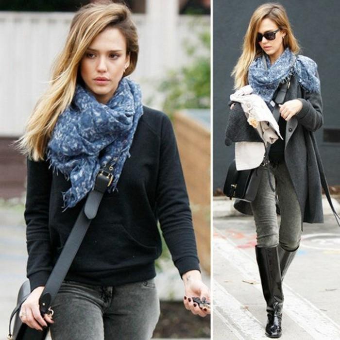 jessica-alba-aime-les-echarpes-comment-porter-une-écharpe-été-comment-porter-un-foulard