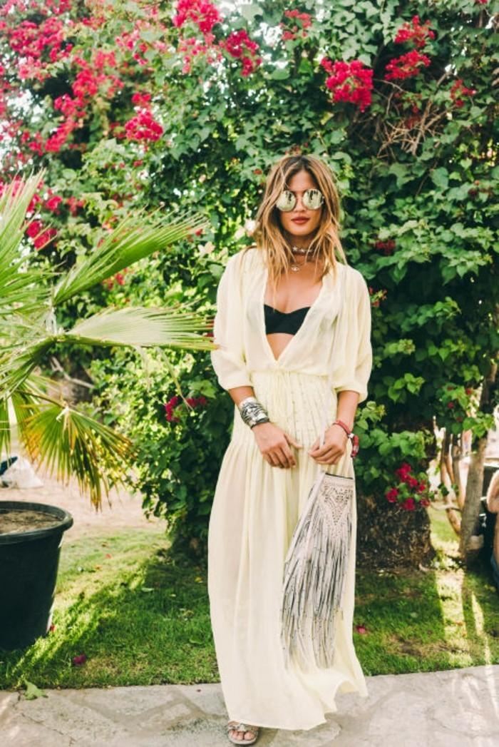 jolie-coachell-admirable-femme-chic-bands-tenue-femme-célébre-2016