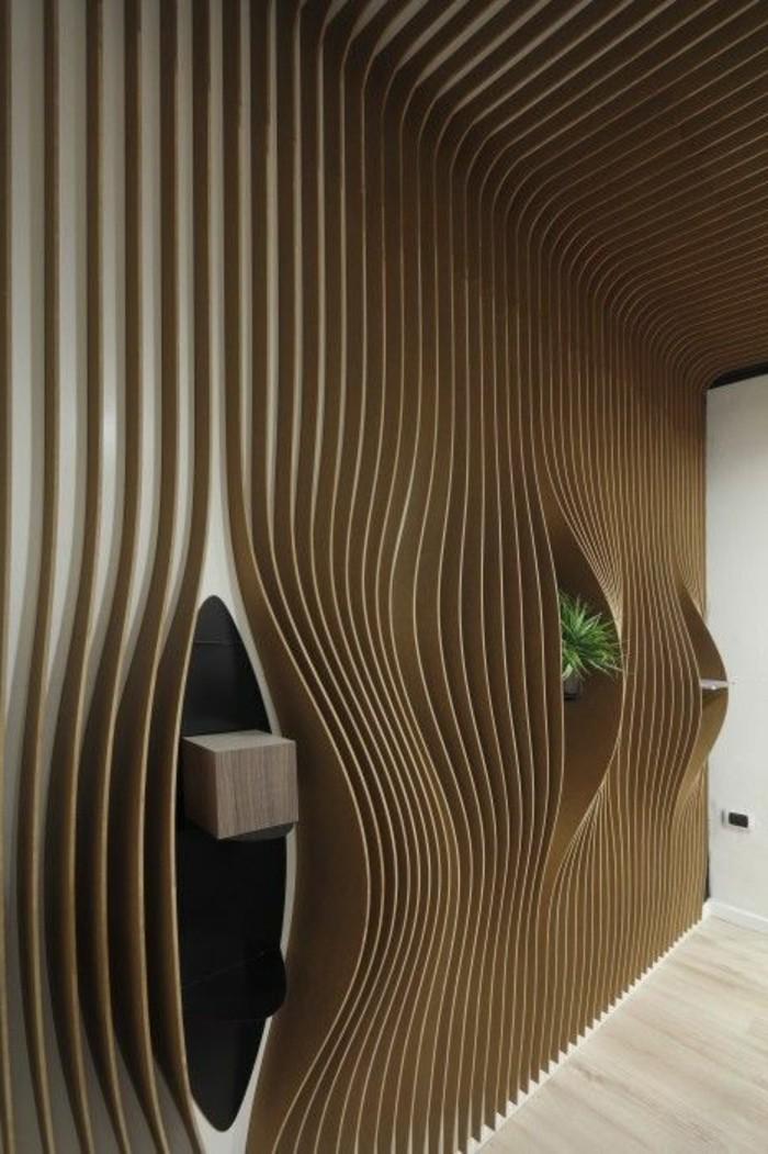jolie-decoration-avec-decors-muraux-en-panneaux-en-bois-clair-idee-deco-murale