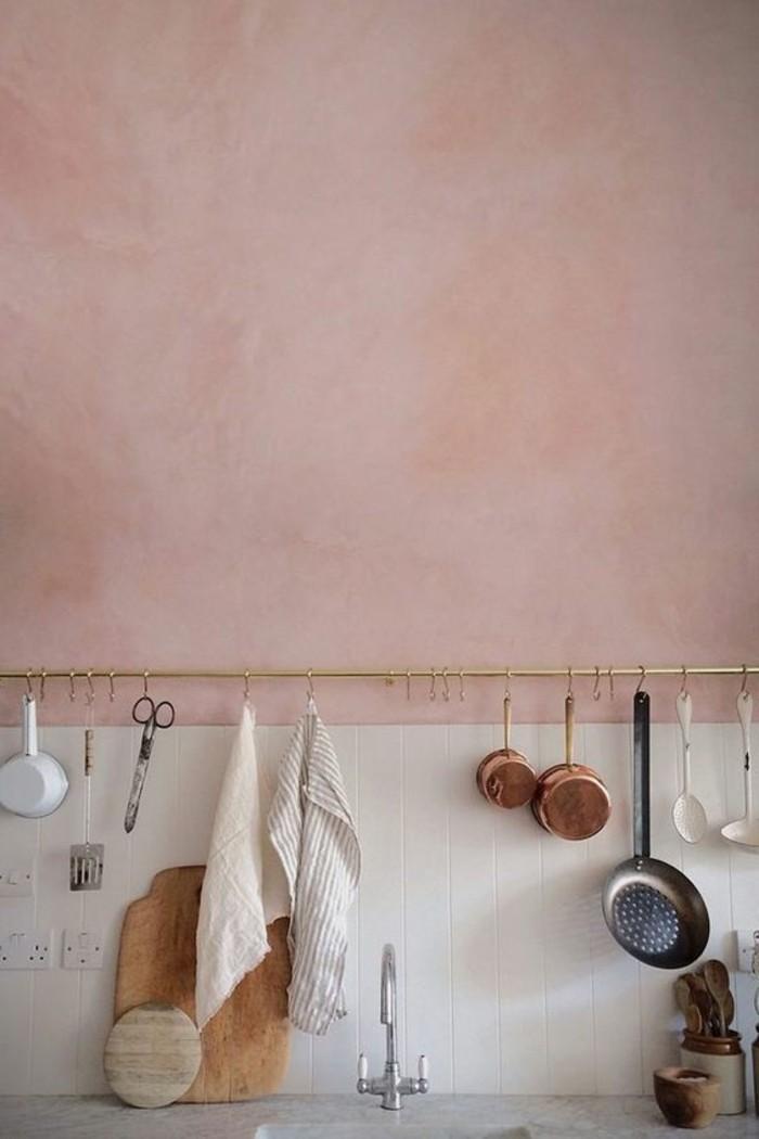 jolie-idee-pour-ranger-les-objets-dans-la-cuisine-murs-roses-de-cuisine