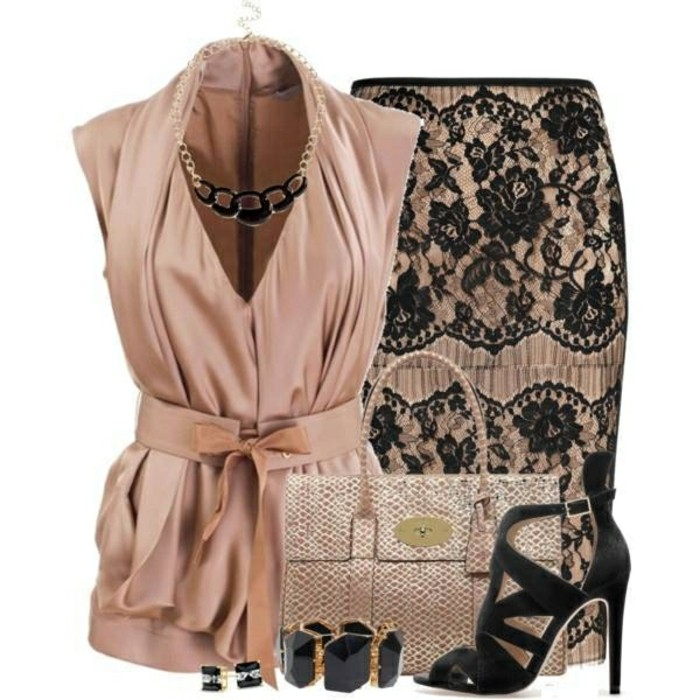 jupe-dentelle-noir-et-beige-avec-les-accessoires-resized