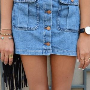 Comment porter la jupe en jean? 80 idées en photos!