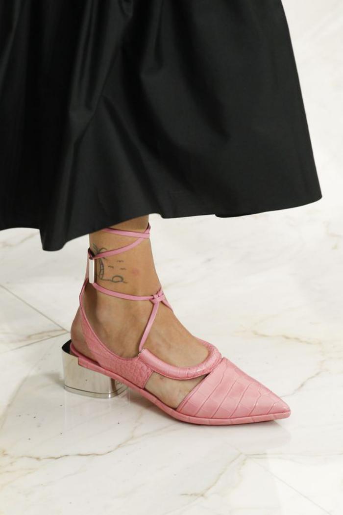 la-ballerine-ballerine-rose-à-talons-mtallique