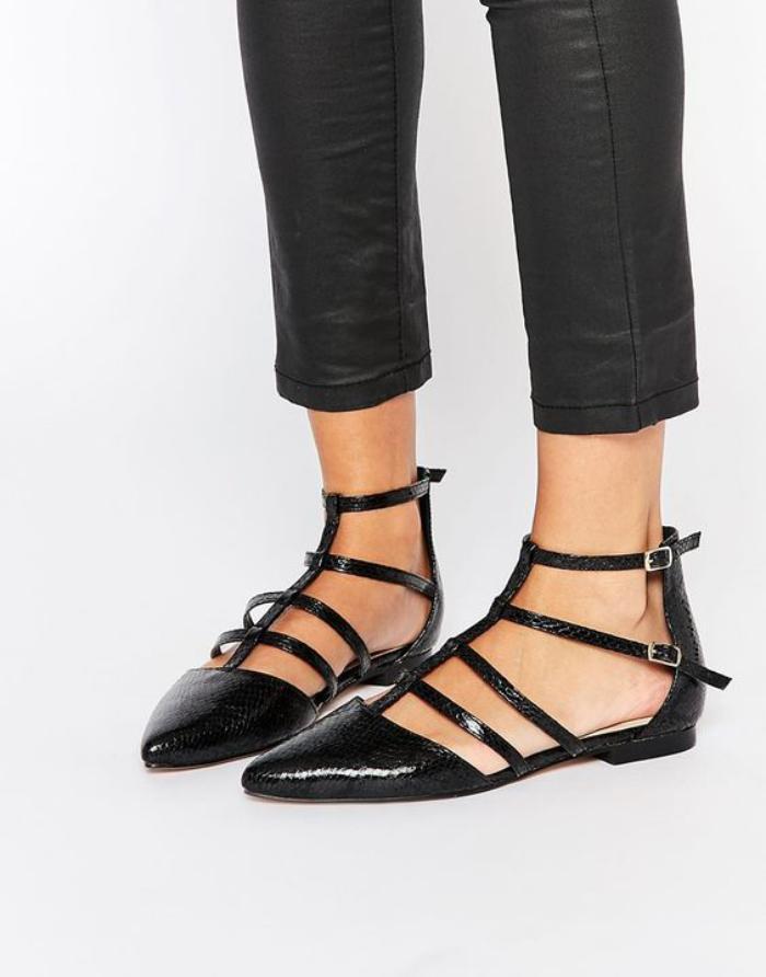 la-ballerine-ballerines-cuir-noir-lacets-modèle-tendance-très-élégant